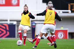 Yana Daniels of Bristol City Women warms up prior to kick off - Mandatory by-line: Ryan Hiscott/JMP - 18/10/2020 - FOOTBALL - Twerton Park - Bath, England - Bristol City Women v Birmingham City Women - Barclays FA Women's Super League