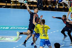 Mathieu Grebille of Paris during handball match between RK Celje Pivovarna Lasko (SLO) and Paris Saint-Germain Handball (FRA) in Round of 16 of EHF Champions League 2020/21, on April 1, 2021 in Arena Zlatorog, Celje, Slovenia. Photo by Vid Ponikvar / Sportida