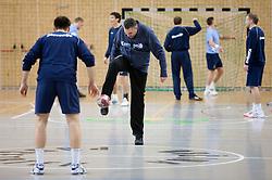 Coach Boris Denic at Open training session for the public of Slovenian handball National Men team before European Championships Austria 2010, on December 27, 2009, in Terme Olimia, Podcetrtek, Slovenia.  (Photo by Vid Ponikvar / Sportida)