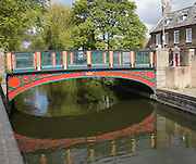 River Thet flowing through Thetford, Norfolk, England