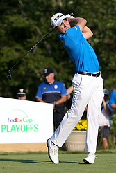 September 4, 2017 - Norton, Massachusetts, United States - Justin Thomas tees off the 17th hole during the final round of the Dell Technologies Championship at TPC Boston. (Credit Image: © Debby Wong via ZUMA Wire)