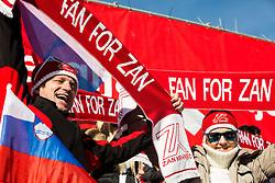 Supporters of Zan Kranjec (SLO) during 9th Men's Giant Slalom race of FIS Alpine Ski World Cup 55th Vitranc Cup 2016, on March 4, 2016 in Kranjska Gora, Slovenia. Photo by Vid Ponikvar / Sportida