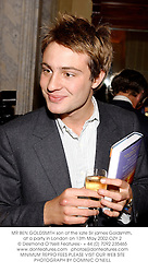 MR BEN GOLDSMITH son of the late Sir james Goldsmith, at a party in London on 13th May 2002.OZY 2