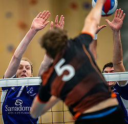 Daan van den Borden of Vocasa in action during the first league match in the corona lockdown between Talentteam Papendal vs. Vocasa on January 13, 2021 in Ede.