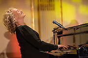 New Yor, NY - 10 December 2013. Carole King performing  for the Prostate Cncer Foundation fundraiser at the Plaza Hotel.