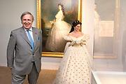 """Opening tentoonstelling 'Sisi, sprookje & werkelijkheid' te Paleis Het Loo. De tentoonstelling belicht het levensverhaal van Keizerin Elisabeth. Aan de hand van filmfragmenten, foto's, schilderijen en persoonlijke bezittingen worden haar jeugd, haar leven aan het Weense hof, haar kroning tot Koningin van Hongarije en de mythevorming rond haar persoon geïllustreerd.<br /> <br /> Opening exhibition """"Sisi, fairy tale and reality 'to Palace Het Loo. The exhibition highlights the life of Empress Elisabeth. On the basis of film clips, photographs, paintings and personal belongings are her childhood, her life at the Viennese court, her coronation as Queen of Hungary and the myths around her person illustrated.<br /> <br /> Op de foto/ On the Photo: Pia Douwes als  Keizerin Elisabeth ,  algemeen bekend onder haar bijnaam Sisi  en  Aartshertog Michael von Habsburg-Lothringen, de achterkleinzoon van Keizerin Elisabeth.  //// Pia Douwes as Empress Elisabeth, commonly known by its nickname Sisi and Archduke Michael von Habsburg-Lothringen, the grandson of Empress Elisabeth."""