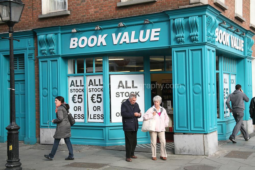 Discount book shop in Dublin Ireland