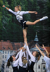 Rising Stars, UK during All Female senior at second day of European Cheerleading Championship 2008, on July 6, 2008, in Arena Tivoli, Ljubljana, Slovenia. (Photo by Vid Ponikvar / Sportal Images).