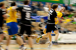 Dolenc Jure of RK Gorenje during handball match between RK Celje Pivovarna Lasko and RK Gorenje of NLB Leasing Prva Liga in season 2011/2012, on February 29, 2012 in Arena Zlatorog, Celje, Slovenia ( photo by Urban Urbanc/ Sportida.com)