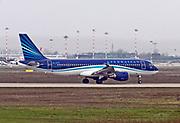 4K-AZ79 AZAL Azerbaijan Airlines Airbus A320-200 Photographed at Malpensa airport, Milan, Italy