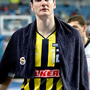 Fenerbahce's Darjus LAVRINOVIC during their Turkish Basketball Legague Play-Off semi final second match Efes Pilsen between Fenerbahce at the Sinan Erdem Arena in Istanbul Turkey on Friday 27 May 2011. Photo by TURKPIX