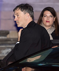 © Licensed to London News Pictures. 07/02/2018. London, UK.  Chief whip JULIAN SMITH MP arrives at the Natural History Museum in London for the annual Black and White Ball, a fundraiser held by the Conservative Party. Photo credit: Ben Cawthra/LNP