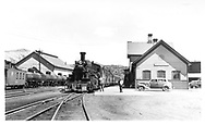 D&RGW San Juan at the Durango depot.  Caboose #0540 is on an adjacent track headed north behind a string of tank cars.<br /> D&RGW  Durango, CO  6/7/1942