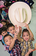 """Lyons Elementary School Pre-K students perform """"Dance Across Texas"""" for parents and staff to kick off Go Texan week, February 24, 2014."""