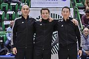 DESCRIZIONE : Eurocup 2015-2016 Last 32 Group N Dinamo Banco di Sardegna Sassari - Cai Zaragoza<br /> GIOCATORE : Radomir Vojinovic, Tomas Jasevicius, Tomasz Trawicki<br /> CATEGORIA : Arbitro Referee Before Pregame<br /> SQUADRA : Arbitro Referee<br /> EVENTO : Eurocup 2015-2016<br /> GARA : Dinamo Banco di Sardegna Sassari - Cai Zaragoza<br /> DATA : 27/01/2016<br /> SPORT : Pallacanestro <br /> AUTORE : Agenzia Ciamillo-Castoria/L.Canu