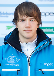 Primoz Pancur at Official photo of  Slovenia Biathlon team for  European Youth Olympic Festival (EYOF) in Liberec (CZE) at official presentation, on February  9, 2011 at Bled Castle, Slovenia. (Photo By Vid Ponikvar / Sportida.com)