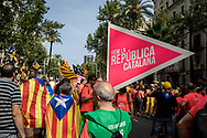 The Diada in Barcelona, the 11th of September is the Catalan day and many manifestation have been held in the Catalan Capital, including many demontration asking independecy from Spain and liberation of separatis polititians incarcerated after helding an inllegal unilateral referendum last year. Barcelona, Spain. September 11th, 2018.