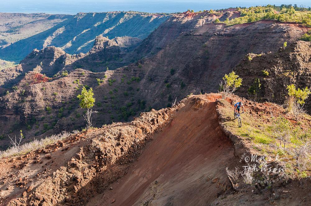 Mountain biking, Kauai, Hawaii ****Model Release available