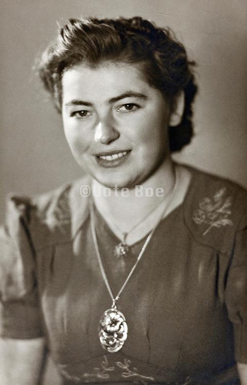 vintage portrait female person 1950s