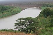 Africa, Ethiopia, Omo Valley, Karo tribe the Omo river