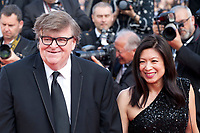 Michael Moore and  Sonia Low at the closing ceremony and The Specials film gala screening at the 72nd Cannes Film Festival Saturday 25th May 2019, Cannes, France. Photo credit: Doreen Kennedy