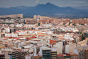 There was a strange beauty in the massive urban sprawl of the hot city of Alicante in Spain, but mostly because of the contrast between it and the towering mountains in the thundery background.