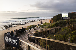 July 12, 2017 - A few sets coming through at Supertuebs but conditions not optimal so a layday has been called at the Corona Open J-Bay...Corona Open J-Bay, Eastern Cape, South Africa - 12 Jul 2017. (Credit Image: © Rex Shutterstock via ZUMA Press)