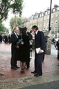 Lucy Ferry and Robin Birley, Mark Birley funeral. St Paul's , Knightsbridge. London. 19 September 2007. -DO NOT ARCHIVE-© Copyright Photograph by Dafydd Jones. 248 Clapham Rd. London SW9 0PZ. Tel 0207 820 0771. www.dafjones.com.