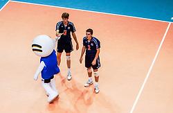 30-09-2002 ARG: World Championships Netherlands - Czech Republic, Salta<br /> Nico Freriks, Sander Olsthoorn<br /> Nederland - Czech 3-2<br /> WORLD CHAMPIONSHIP VOLLEYBALL 2002 ARGENTINA<br /> SALTA / 30-09-2002