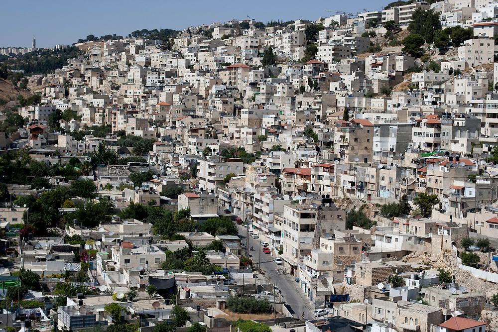 A general view of the al-Bustan area of Arab East Jerusalem neighborhood of Silwan, June 28, 2010.