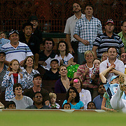 Ellyse Perry drops a catch during Australia's Big Bash Cricket match to raise money for the Victorian Bushfire Appeal at the Sydney Cricket Ground, Sydney, Australia on February 22, 2009. The match was attended by over 20,000 spectators.  Photo Tim Clayton
