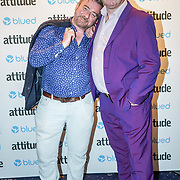 London,England,UK. 27th April 2017.  Stephen Webb, Chris Steed attend the LGBT magazine honours Bachelors of the Year at Café de Paris. by See Li