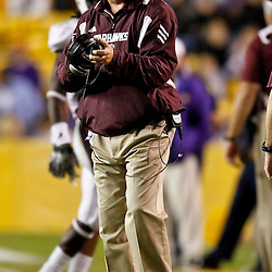 November 13, 2010; Baton Rouge, LA, USA; Louisiana Monroe Warhawks head coach Todd Berry on the sideline during the second half against the LSU Tigers at Tiger Stadium. LSU defeated Louisiana-Monroe 51-0.  Mandatory Credit: Derick E. Hingle