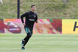 March 20, 2018 - Lisbon, Lisbon, Portugal - Portugal forward Cristiano Ronaldo during training session at Cidade do Futebol training camp in Oeiras, outskirts of Lisbon, on March 20, 2018 ahead of the friendly football match in Zurich against Egypt on March 23. (Credit Image: © Dpi/NurPhoto via ZUMA Press)