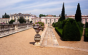 Gardens at The National Palace of Queluz, Sintra, near Lisbon, Portugal