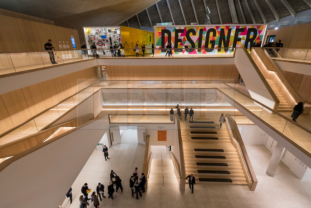 © Licensed to London News Pictures. 17/11/2016. London, UK. The Design Museum opens in its new home on Kensington High Street, west London.  Housed in the former Commonwealth Institute, the building has been redesigned by John Pawson following an investment of £83m, and a five-year construction process for its future role as the world's leading institution dedicated to contemporary design and architecture. Photo credit : Stephen Chung/LNP