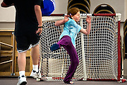 """Shenny Orr makes a big save during a high-spirited game of """"circus soccer"""" during free time at the Church of the Nazarene in Coeur d'Alene. Day campers, between the ages of eight and fourteen, had to move inside on Thursday due to inclement weather."""