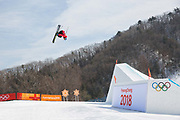 Ski slopestyle practice at the Pyeongchang 2018 Winter Olympics on February 15th 2018, at the Phoenix Snow Park in Pyeongchang-gun, South Korea.
