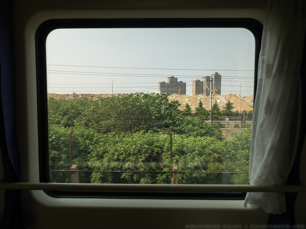 Window view across China, from the train from Hong Kong to Urumqi, Xinjiang.