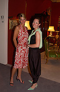 Viktoria Niederhofer and Blanka Bernheimer, Grosvenor House Antiques fair charity preview in aid of Macmillan Cancer Relief, 10 June 2004. ONE TIME USE ONLY - DO NOT ARCHIVE  © Copyright Photograph by Dafydd Jones 66 Stockwell Park Rd. London SW9 0DA Tel 020 7733 0108 www.dafjones.com