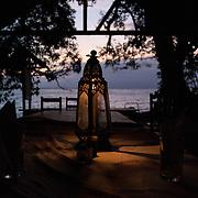 Dinner table at camp on Nosy Mangabe Island