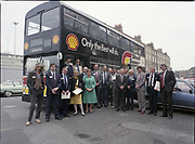Shell bus to take people to Jurys Hotel, Shell House, <br /> 18th May 1984