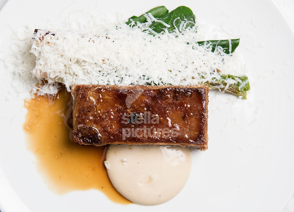 Herdwick lamb, calcots, salted ricotta and anchovy at Ham as part of Evening Standard restaurant review.<br /> Picture by Daniel Hambury/@stellapicsltd 07813022858<br /> 10/03/2018