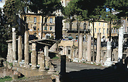 Largo di Torre Argentina, a square in Rome, Italy, that contains the remains of four Republican Roman temples, and the remains of Pompey's Theatre. It is located in the ancient Campus Martius.