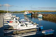 Boats in harbour, Burravoe, Yell, Shetland Islands, Scotland