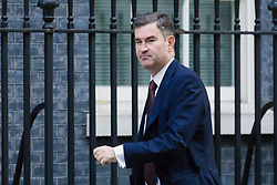 © Licensed to London News Pictures. 09/10/2018. London, UK.  David Gauke,<br /> Lord Chancellor and Secretary of State for Justice arrives in Downing Street for a cabinet meeting.  Photo credit: Vickie Flores/LNP