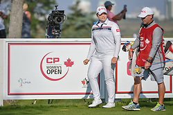 August 23, 2018 - Regina, SK, U.S. - REGINA, SK - AUGUST 23: Ariya Jutanugarn (THA) looks down 12 as she steps on to the tee box during the CP Women's Open Round 1 at Wascana Country Club on August 23, 2018 in Regina, SK, Canada. (Photo by Ken Murray/Icon Sportswire) (Credit Image: © Ken Murray/Icon SMI via ZUMA Press)