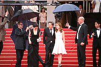 The cast arriving  on the red steps at the DA-REUN NA-RA-E-SUH (IN ANOTHER COUNTRY)  gala screening at the 65th Cannes Film Festival France. Monday 21st May 2012 in Cannes Film Festival, France.
