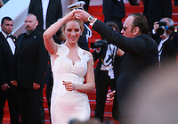 Director Quentin Tarantino and Actress Uma Thurman dancing at the Palme d'Or  Closing Awards Ceremony red carpet at the 67th Cannes Film Festival France. Saturday 24th May 2014 in Cannes Film Festival, France.