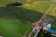 The Schuster Corn Maze near Deerfield, Wisconsin, USA.